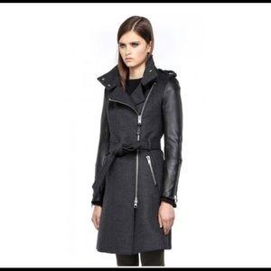 Mackage Dale Leather Sleeve Jacket